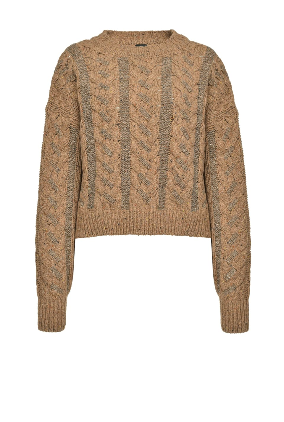 Braided pullover with micro studs - Pinko