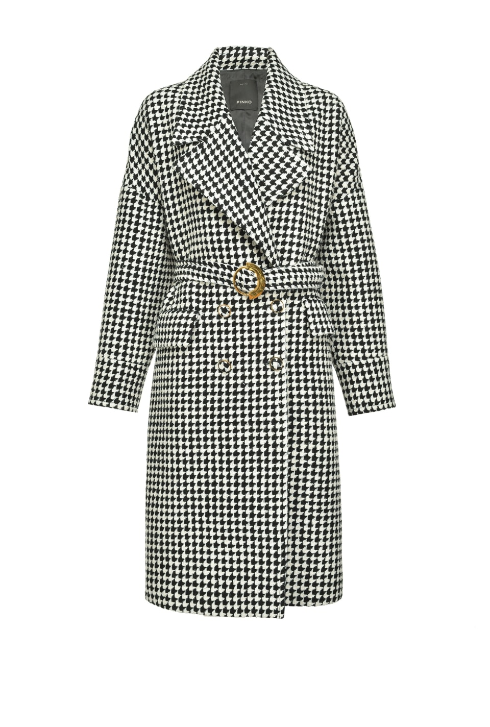 Vintage houndstooth coat - Pinko