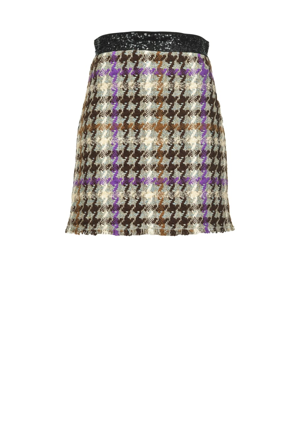 Checked hopsack mini skirt - Pinko