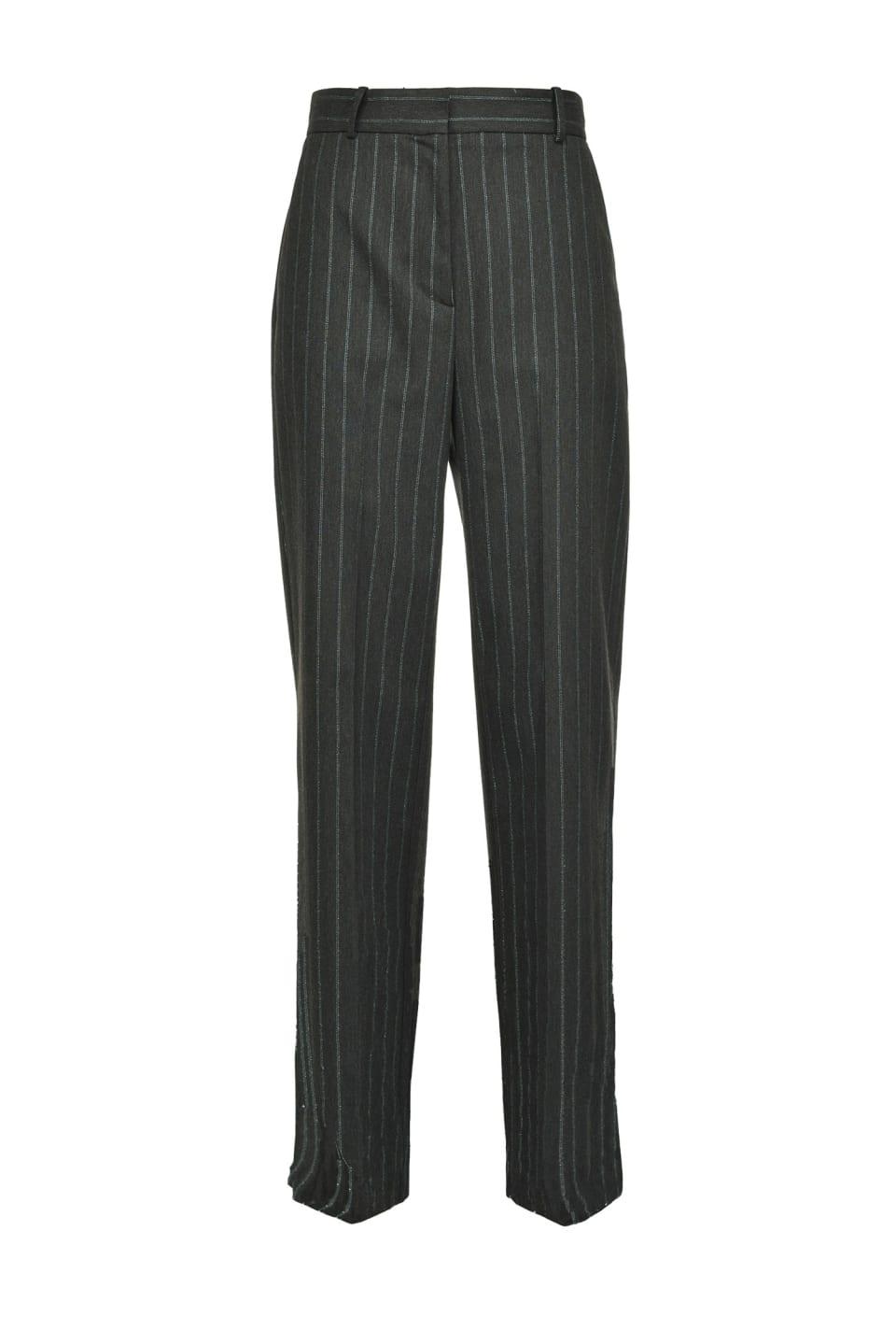 Lurex pinstriped trousers - Pinko