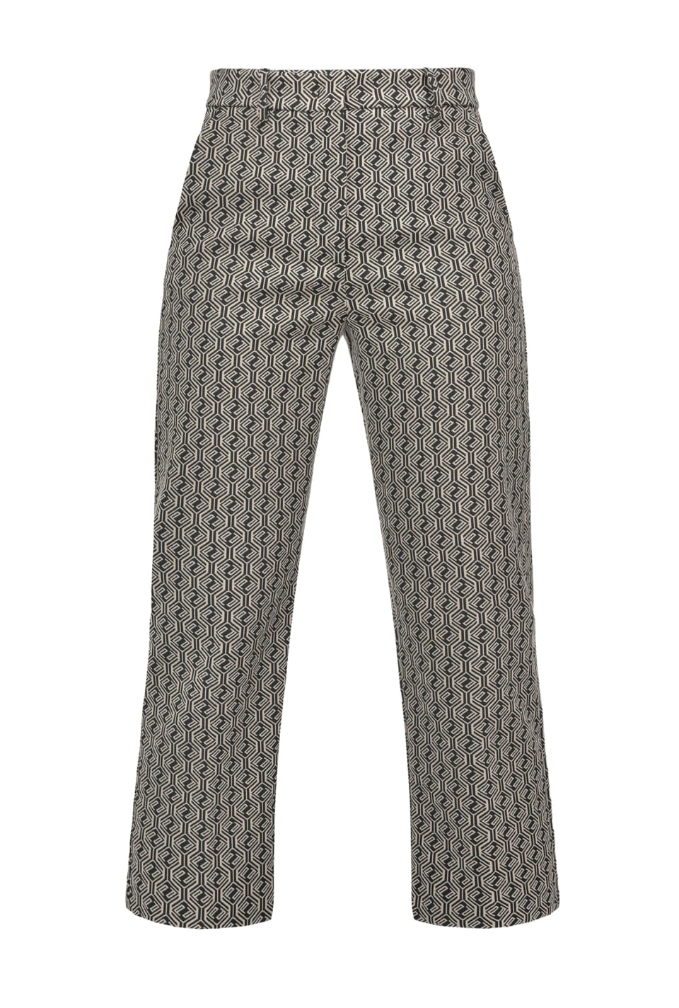 Straight geometric jacquard trousers - Pinko