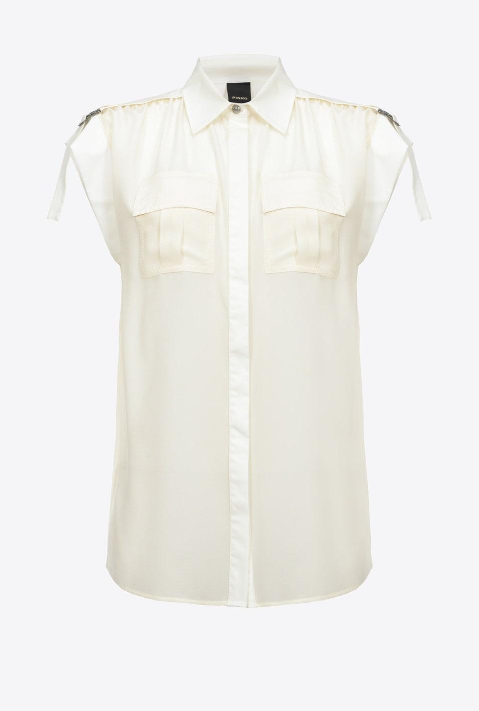 Utility-style sleeveless shirt - Pinko