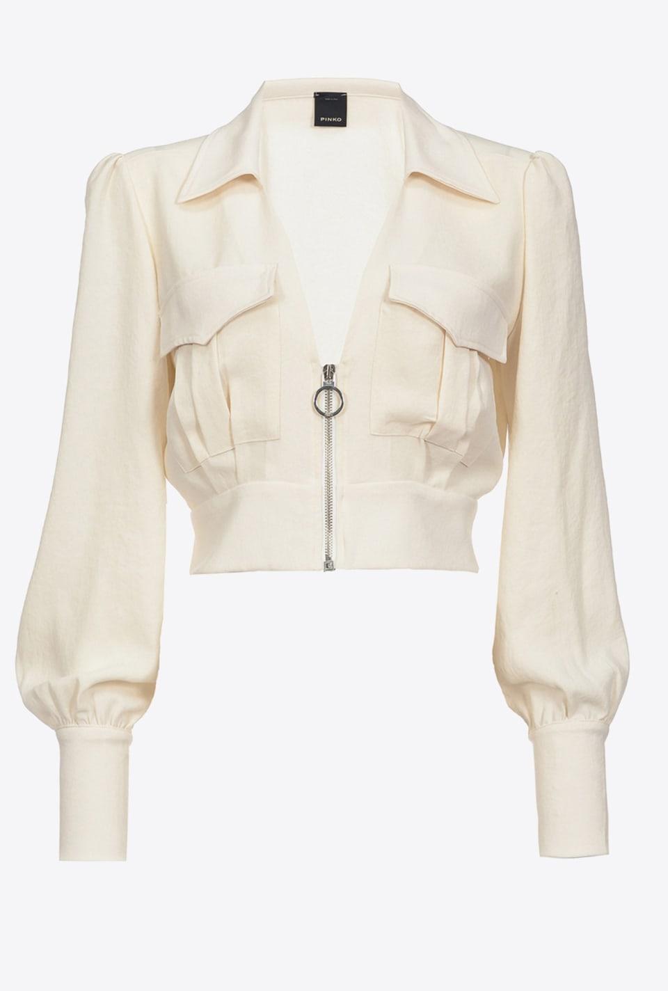 Cropped utility-style blouse - Pinko