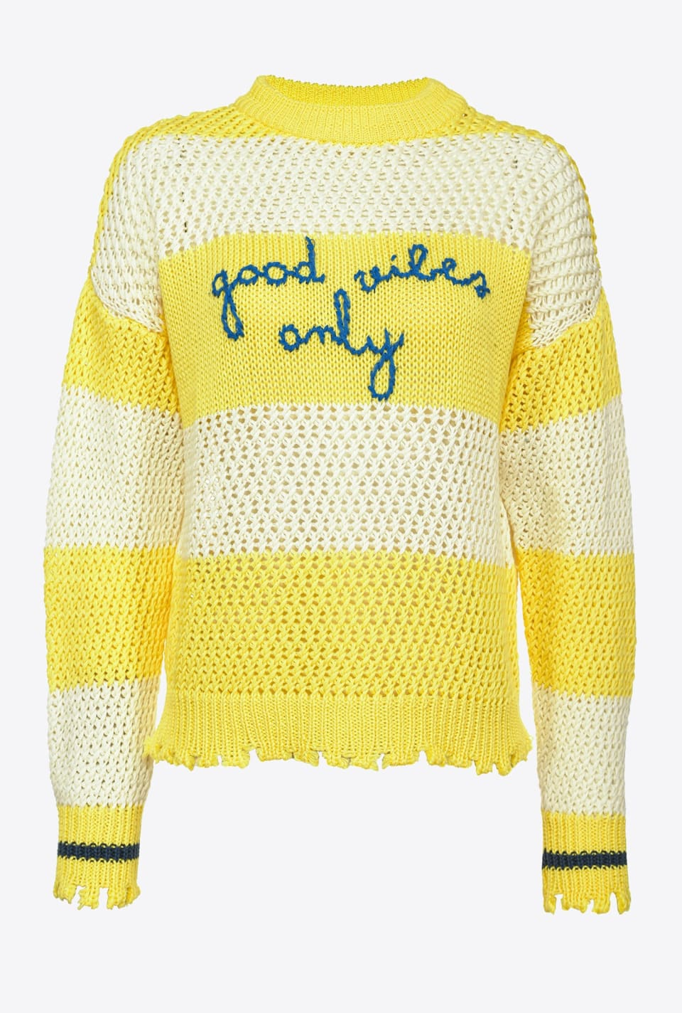 Striped pullover with embroidery - Pinko