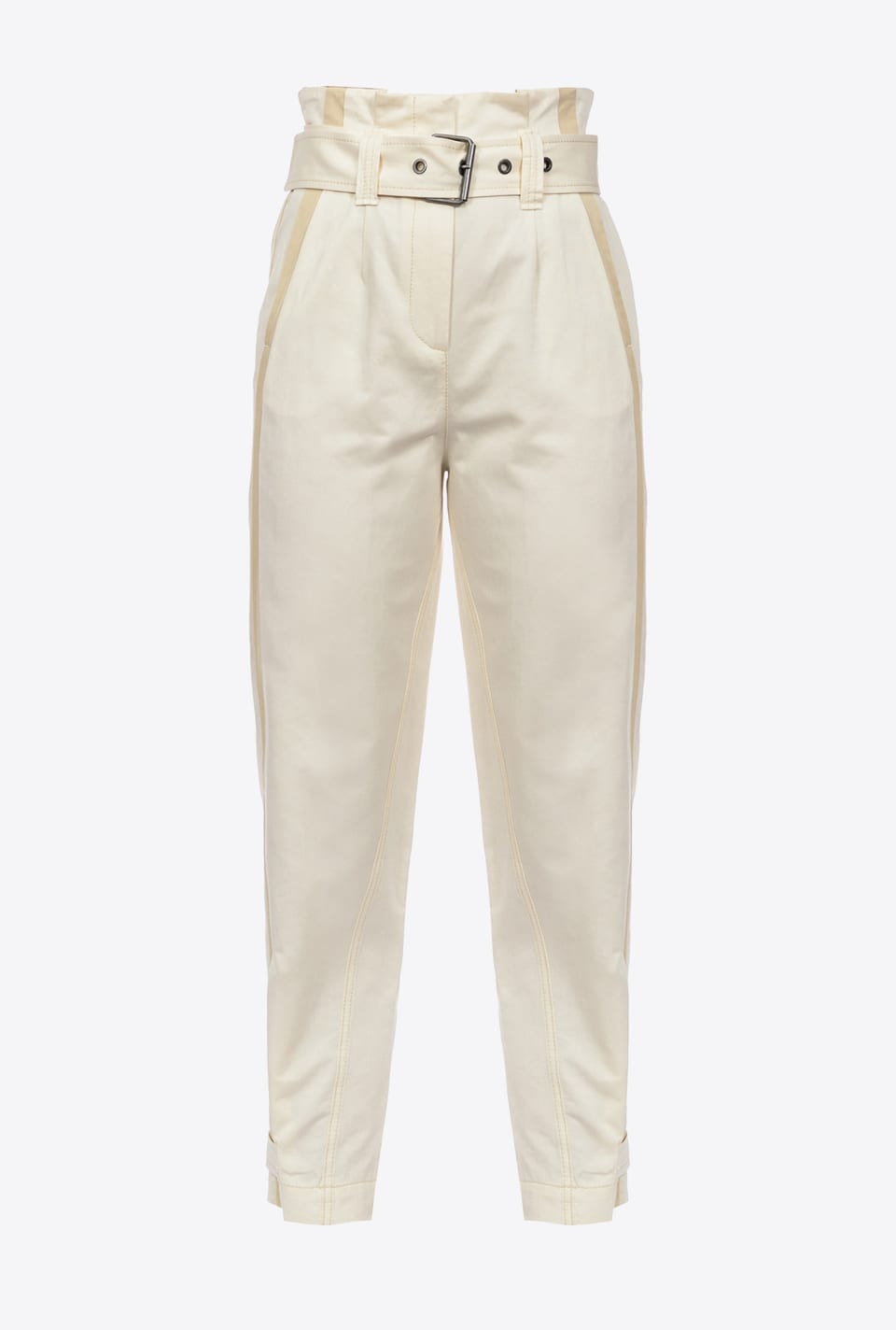 High-waisted trousers with belt - Pinko