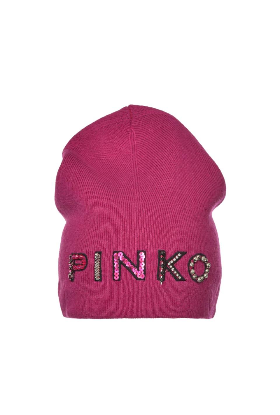 Cuffia beanie con ricamo PINKO - Pinko