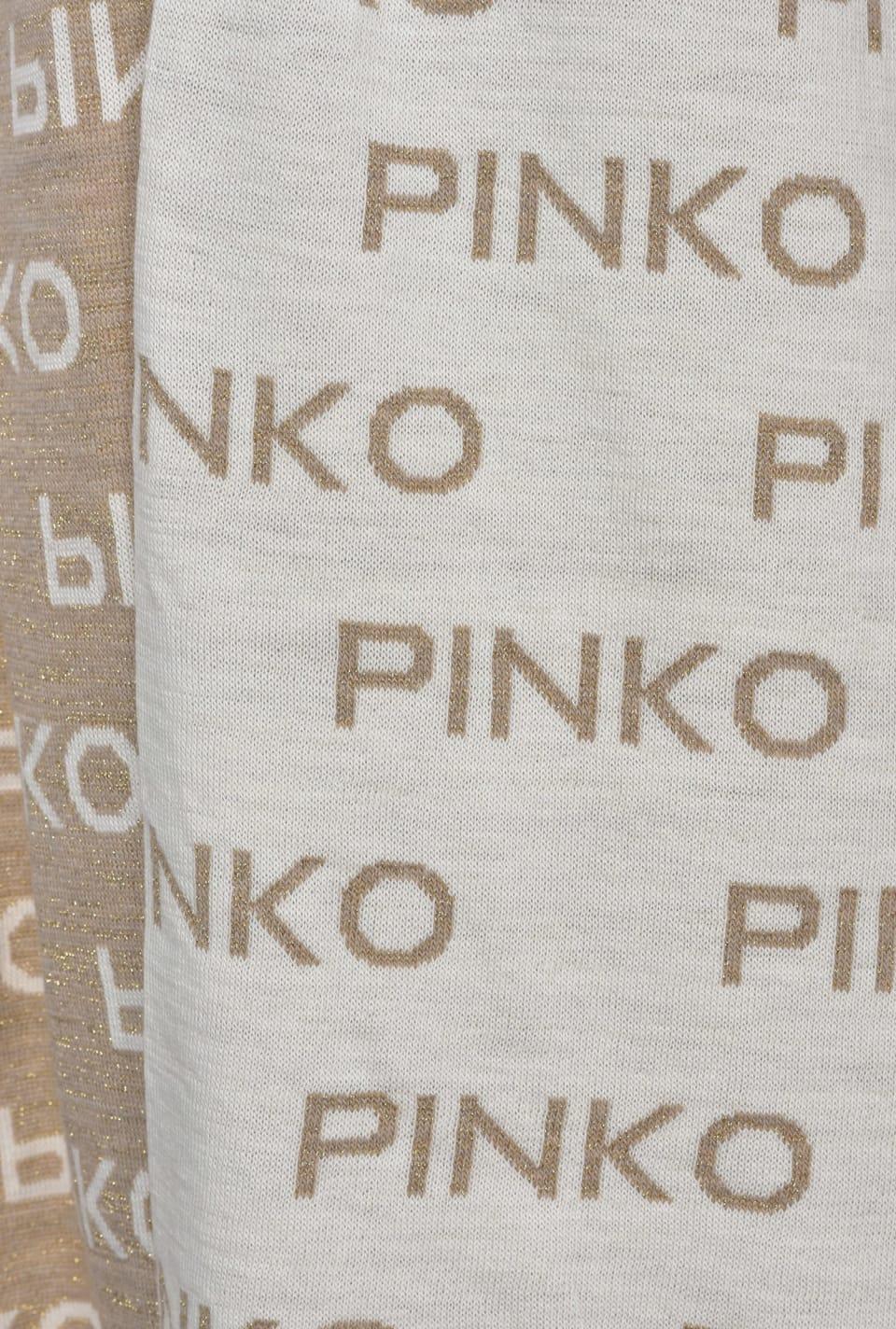 Jacquard logo scarf - Pinko