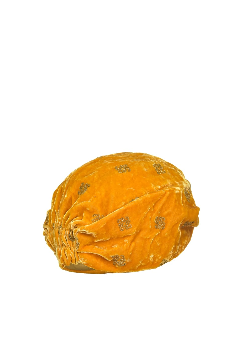 Turban in glitter printed velvet - Pinko
