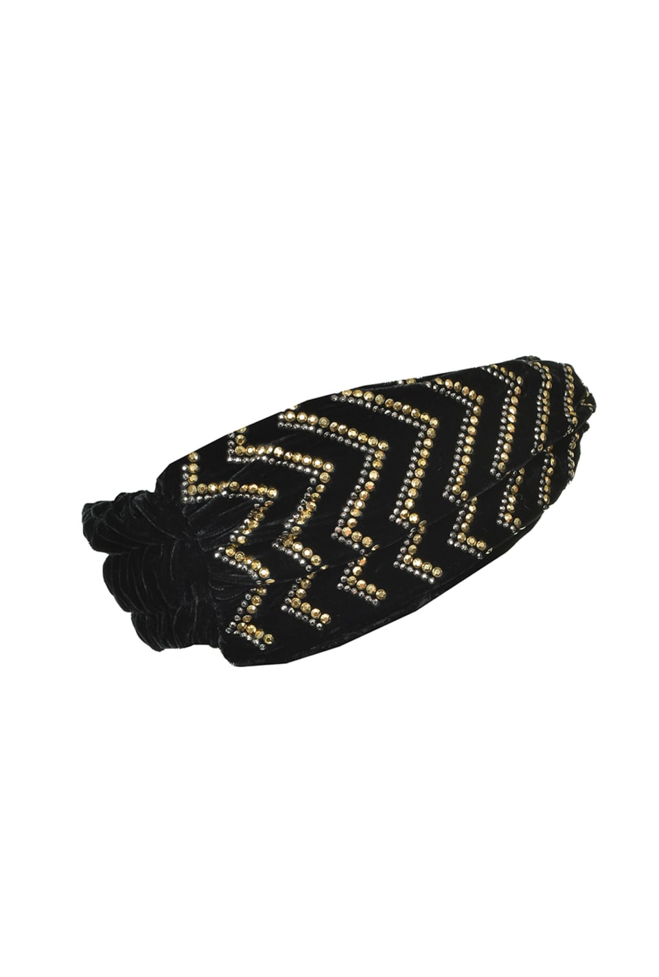 Velvet headband with studs - Pinko