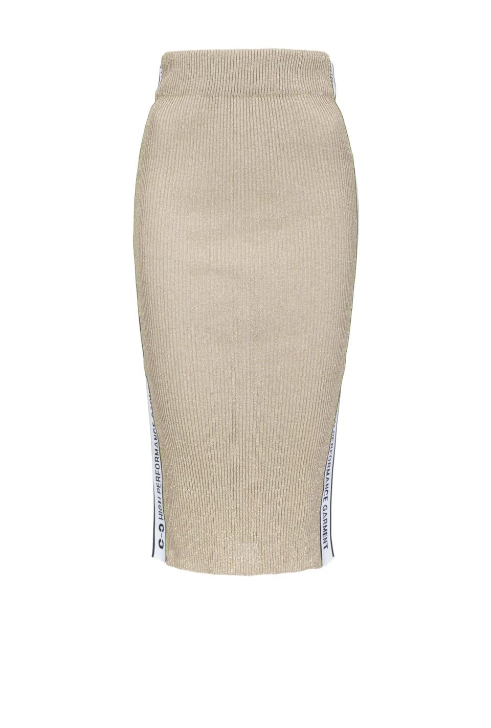 Lurex knit skirt
