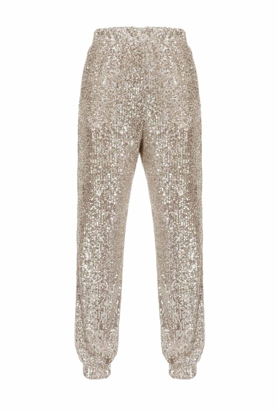 Full sequinned jogging bottoms