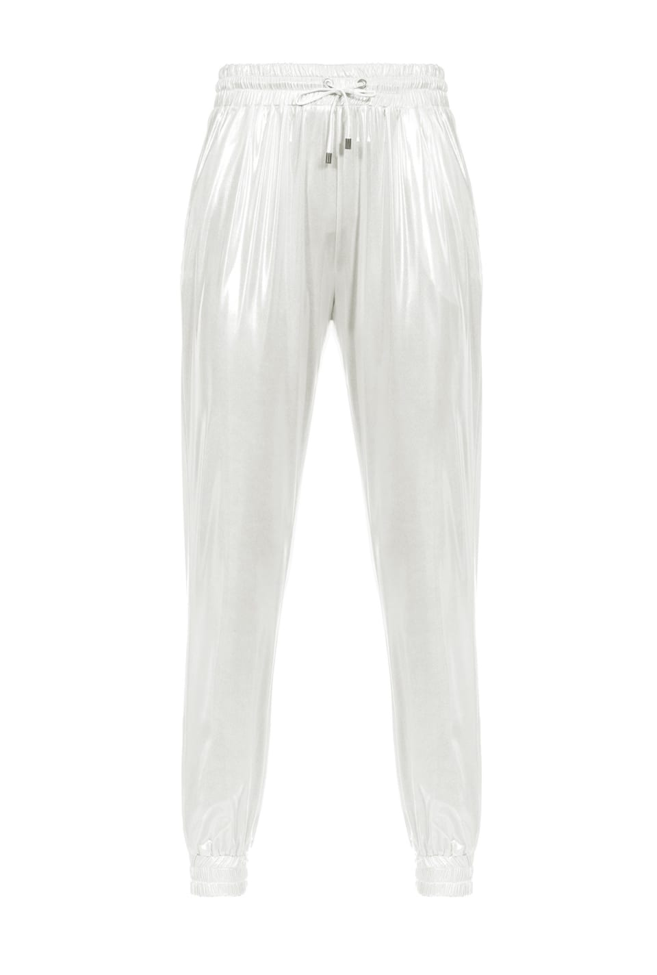 Laminated interlock joggers
