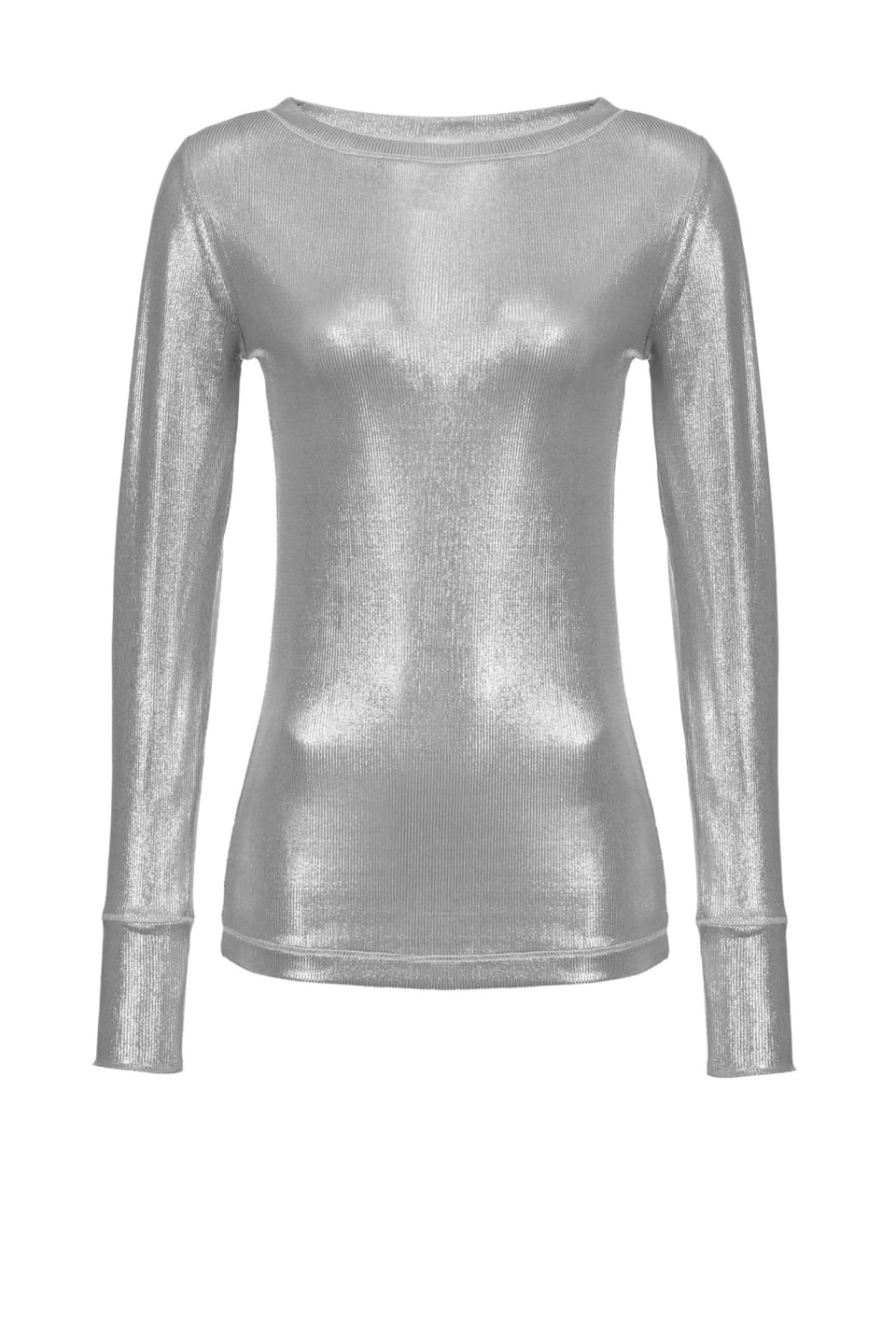 Ribbed laminated sweater