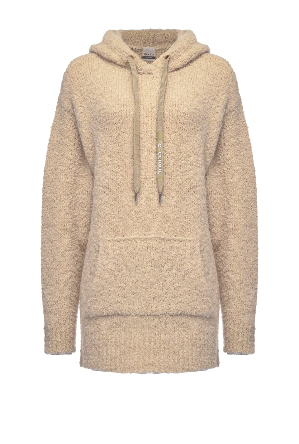 Long sweatshirt in fluffy bouclé - Pinko