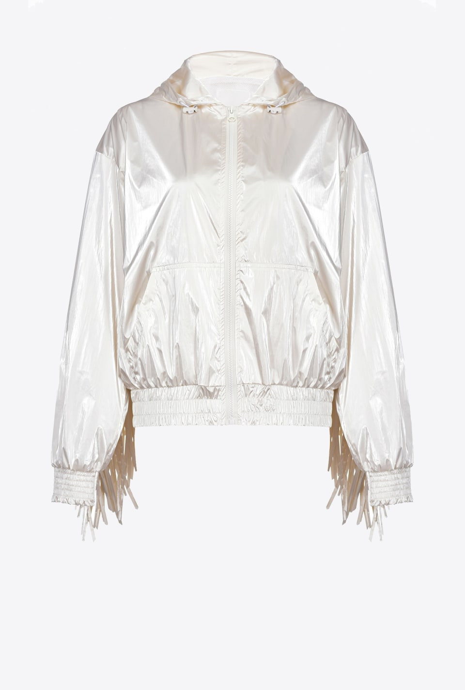 Short rain jacket with fringing - Pinko