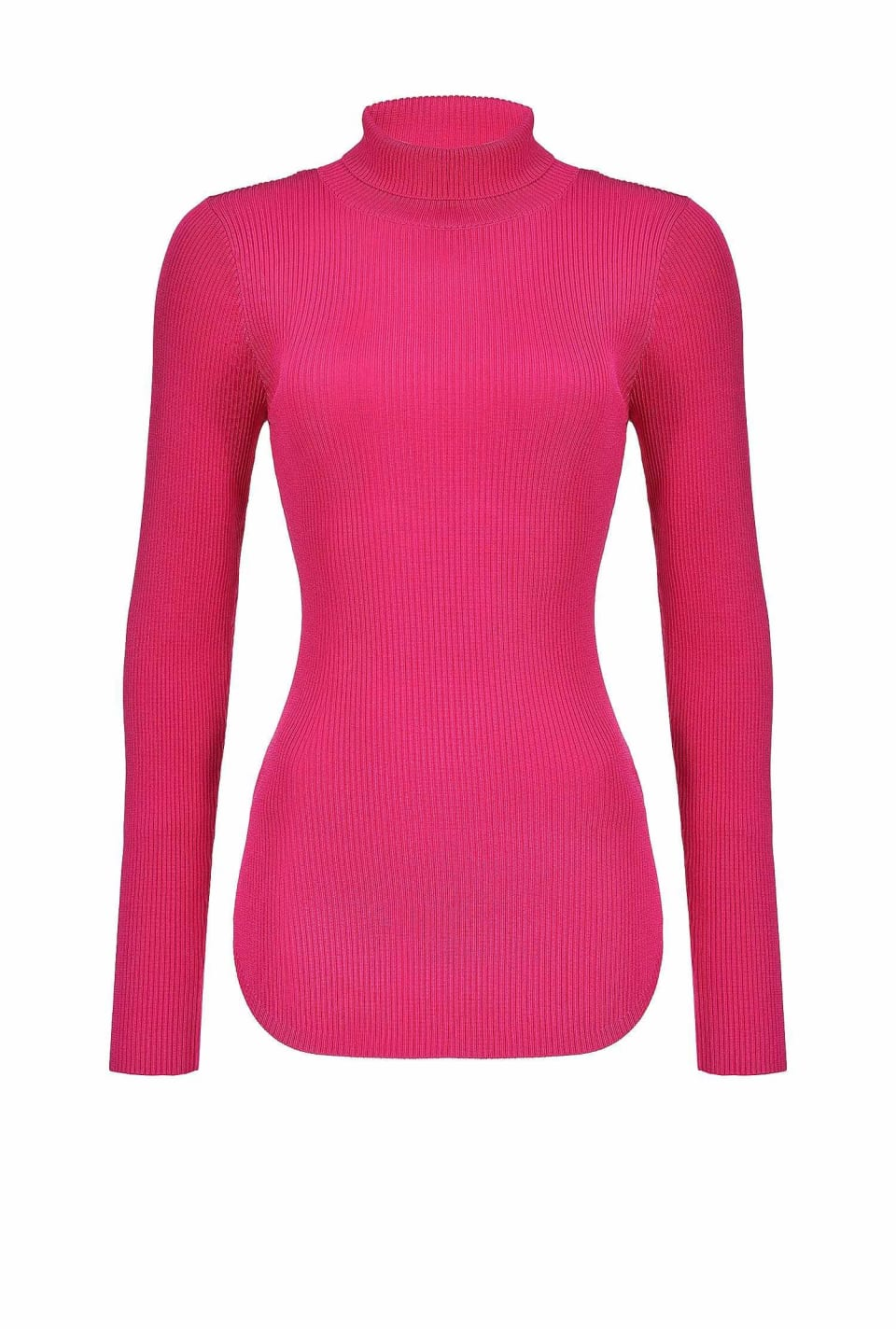 Stretch viscose turtleneck sweater