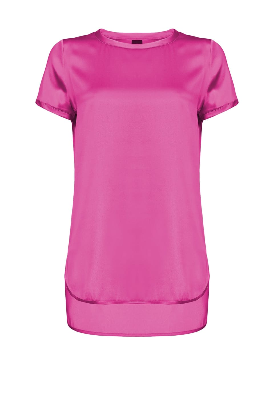 T-shirt en satin stretch