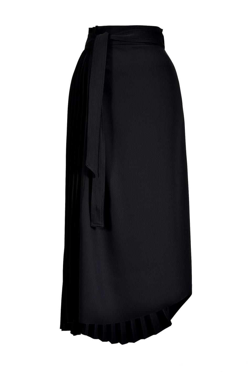 Asymmetric compact twill skirt