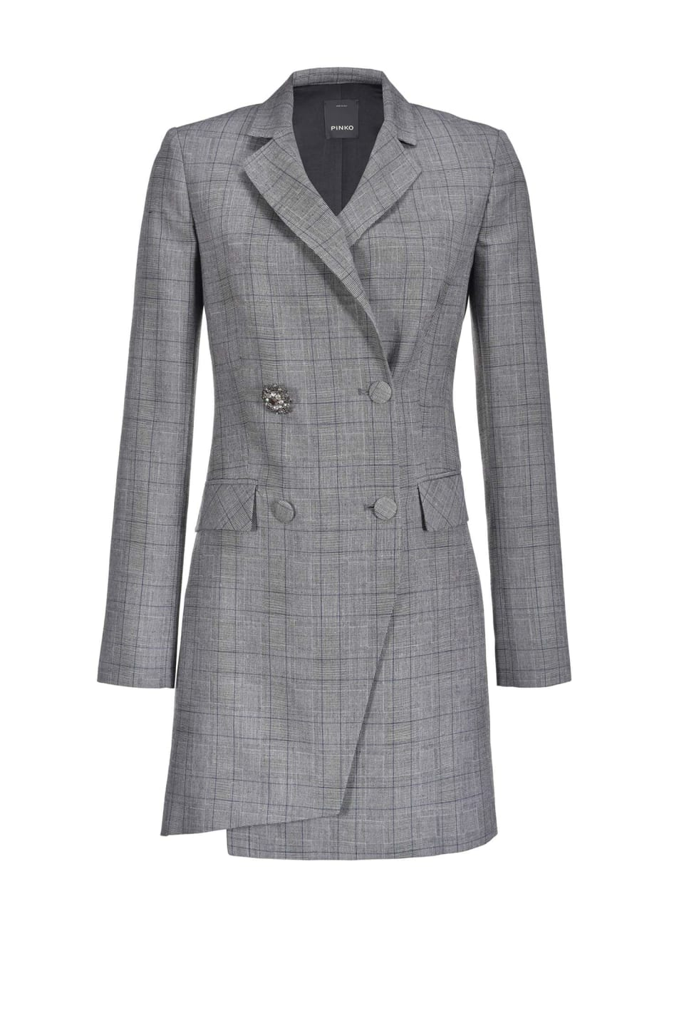 Woven wool coat dress