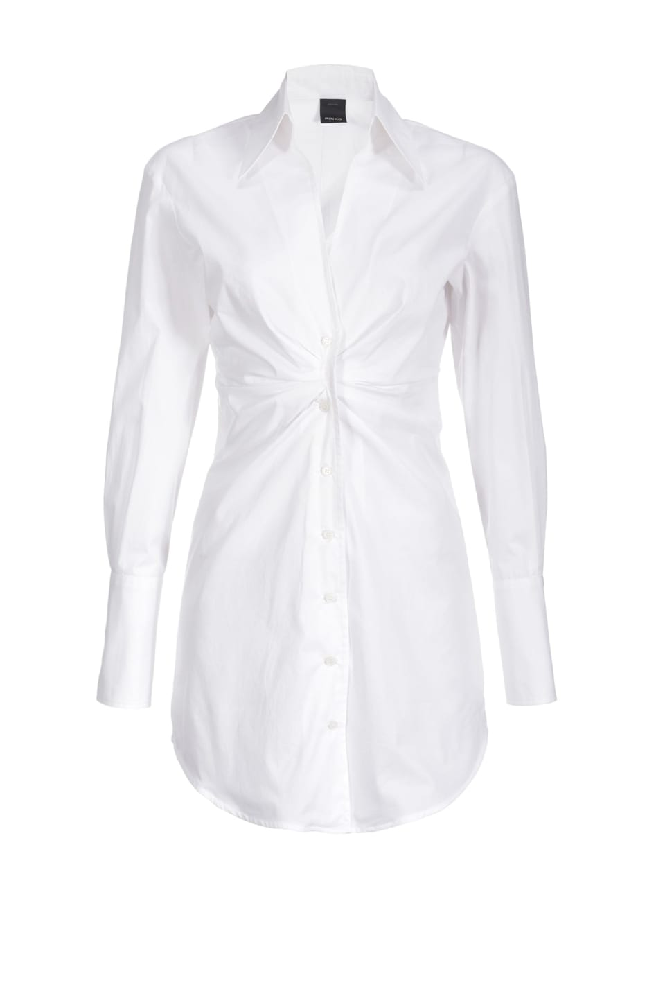 Long shirt in stretch poplin