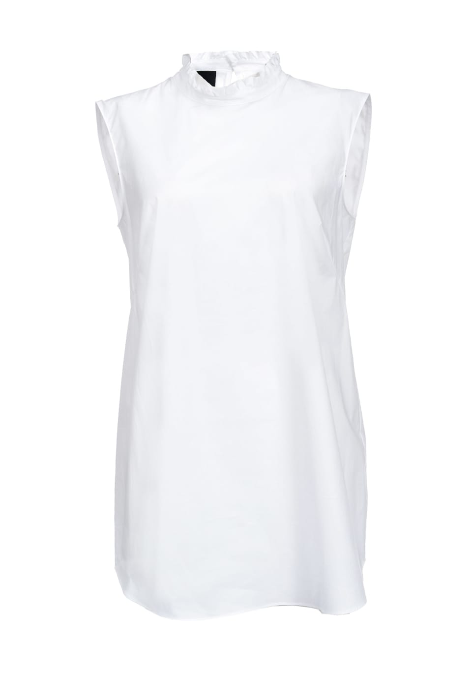 Top en popeline de coton stretch