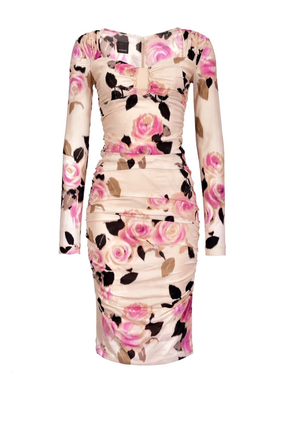 Chiné floral print georgette dress