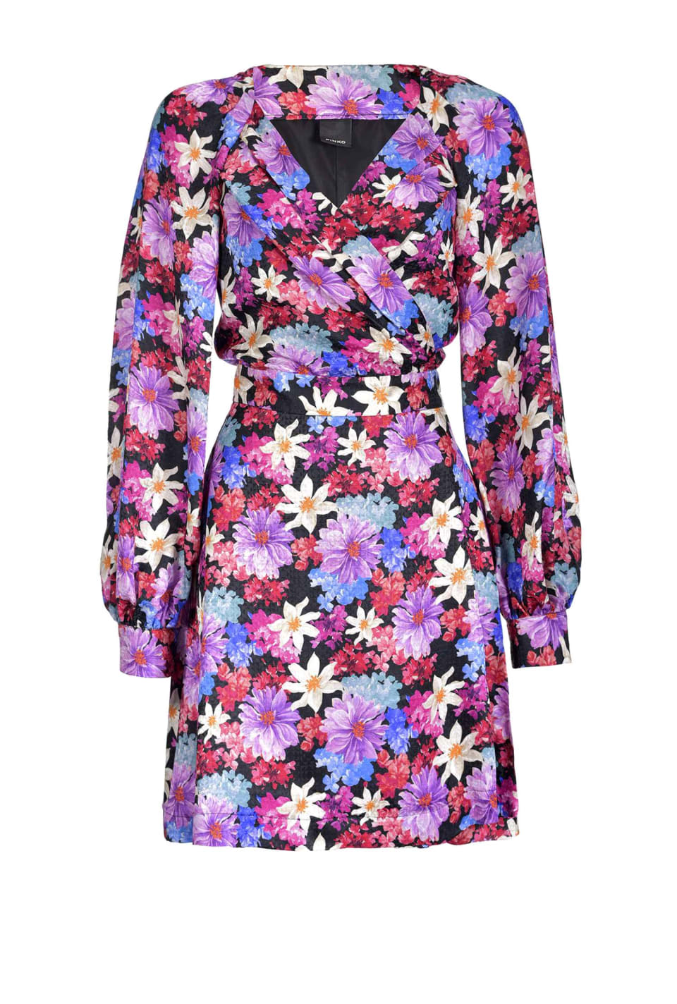 Vestido de jacquard con estampado floral