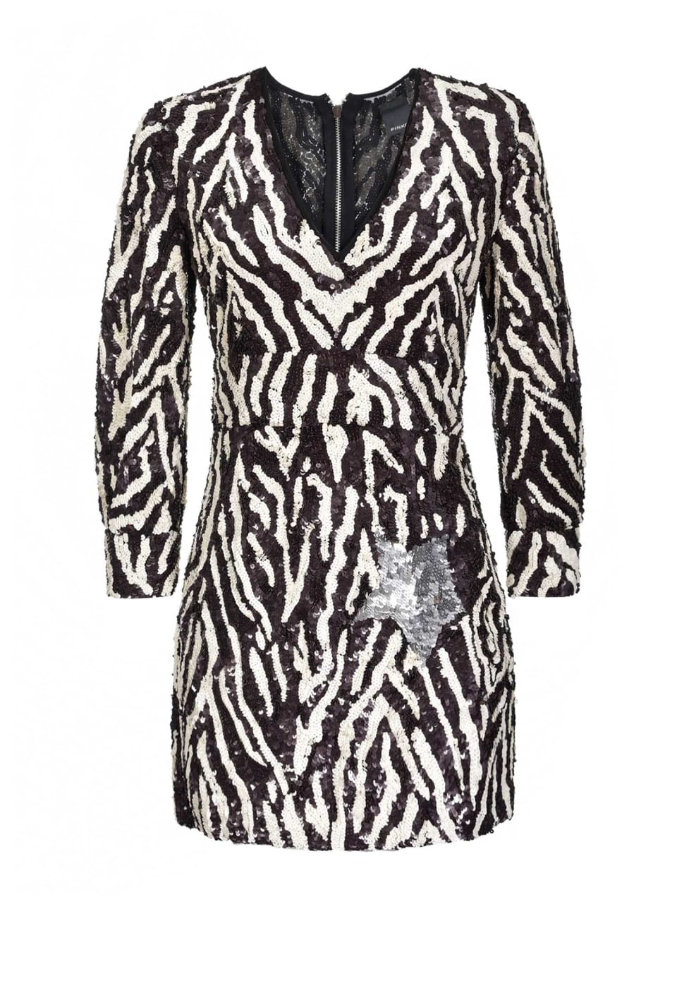 Zebra sequin dress