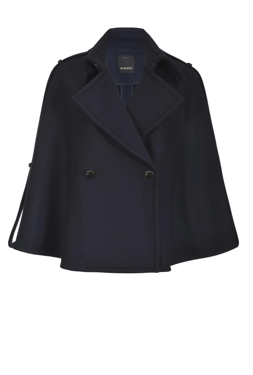 Wool blend Melton cape