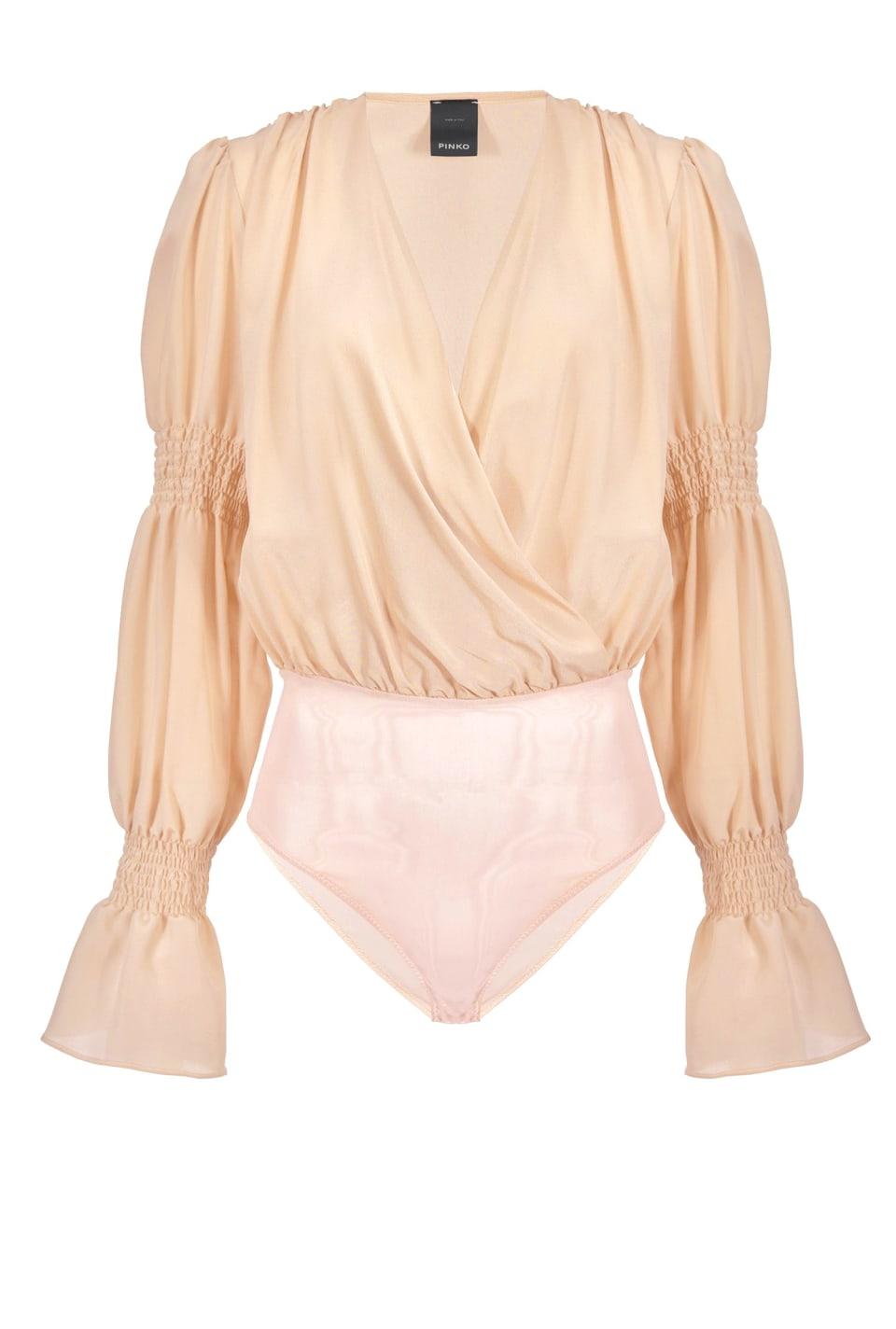 Silk crepe de chine bodysuit blouse