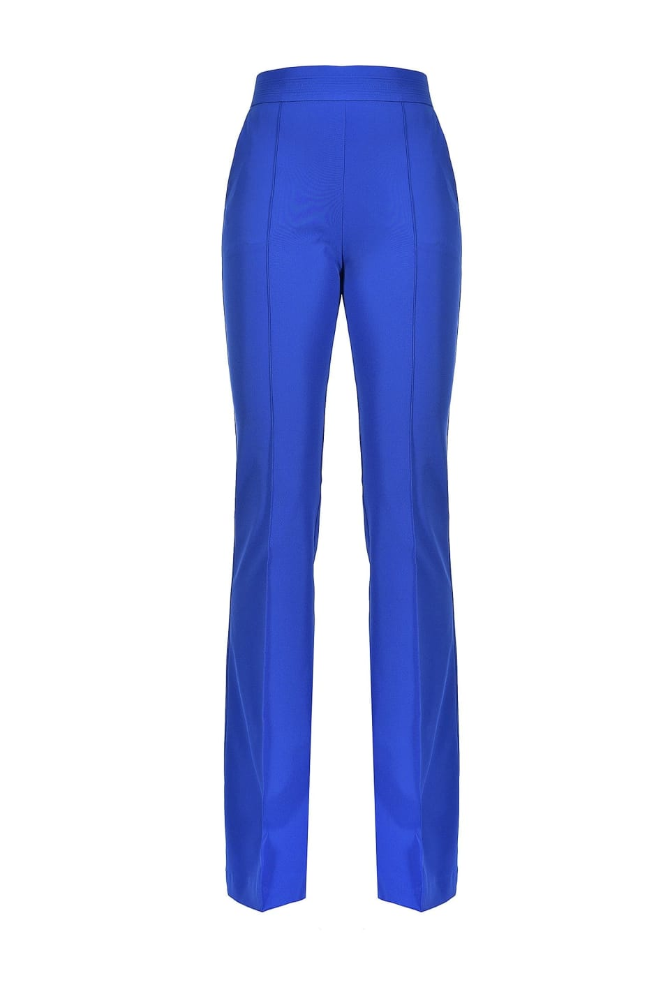Flare trousers in technical fabric