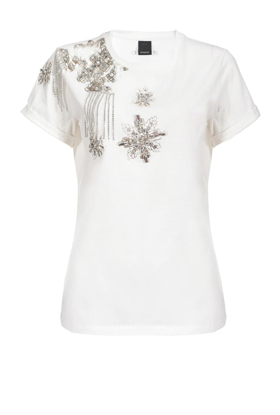 Camiseta con bordado joya