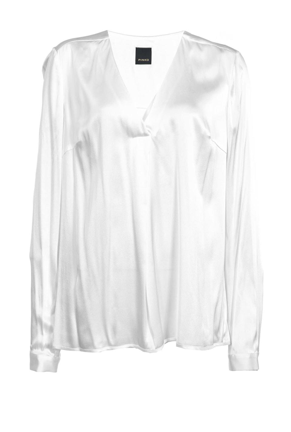 Blusa de satén elástico