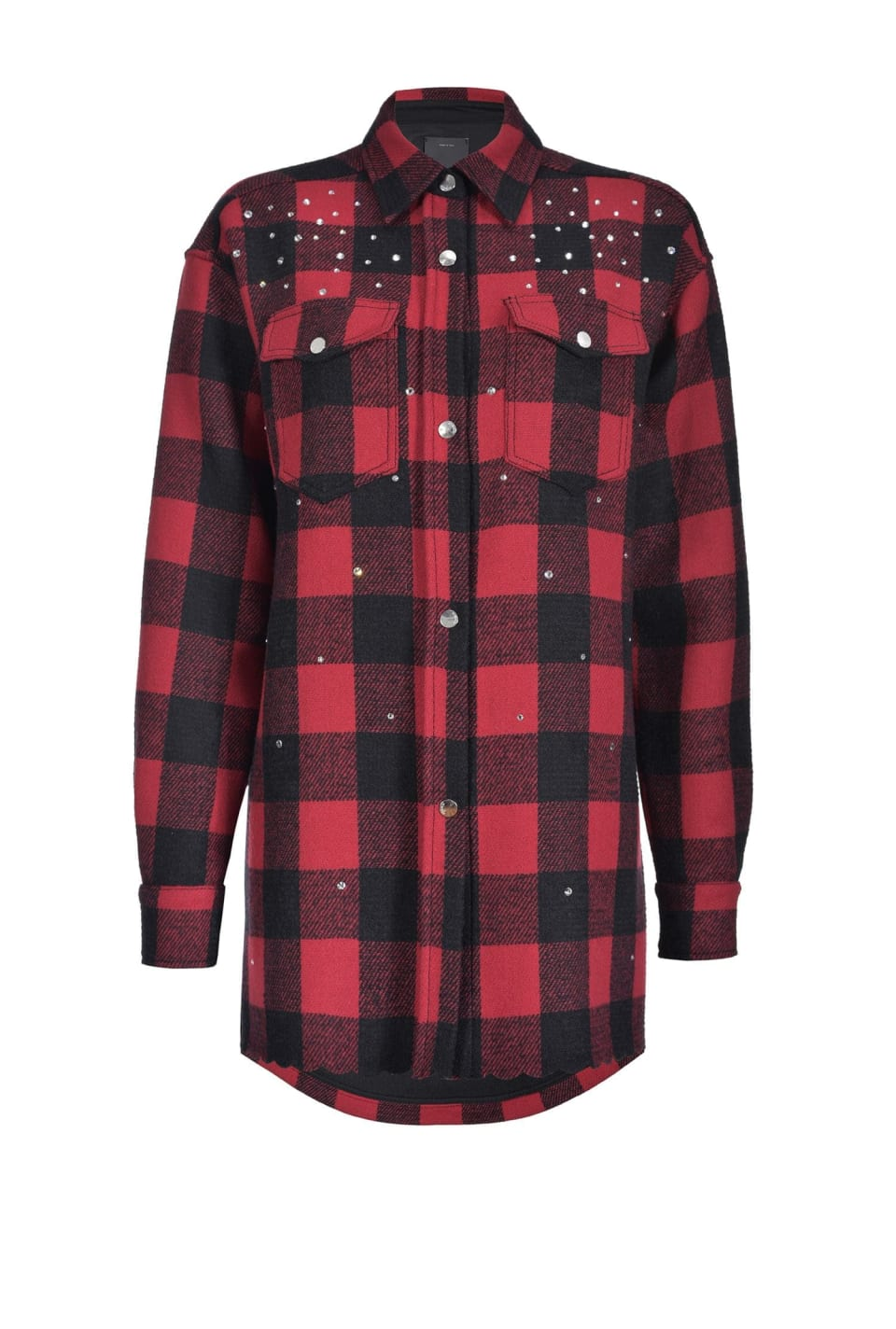 Heavy wool Melton check shirt