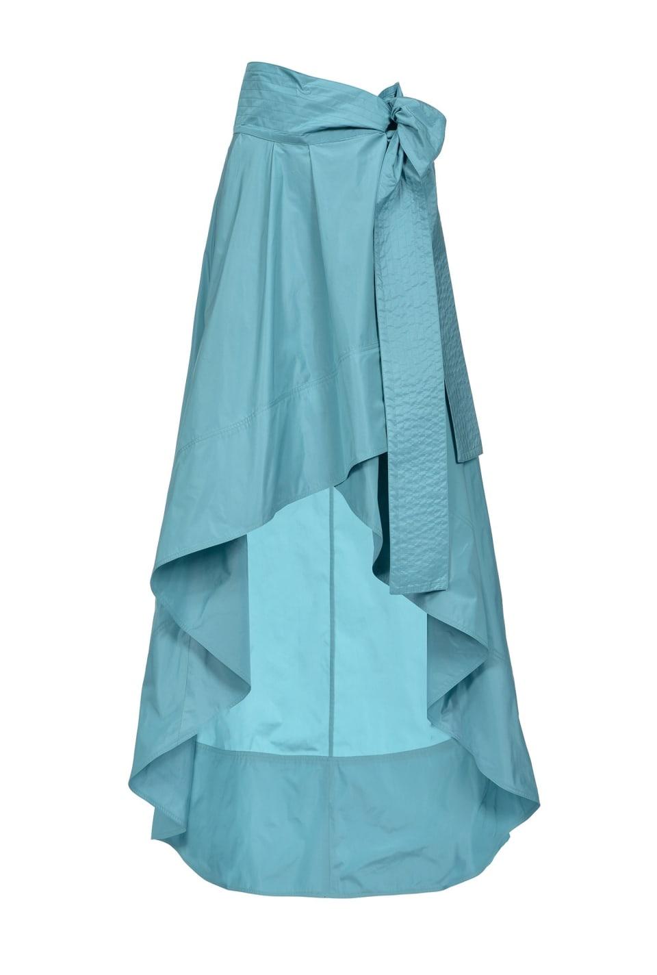Falda de tafetán