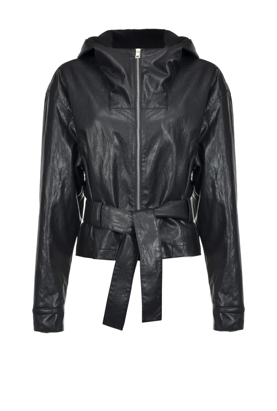 皮革效果面料夹克