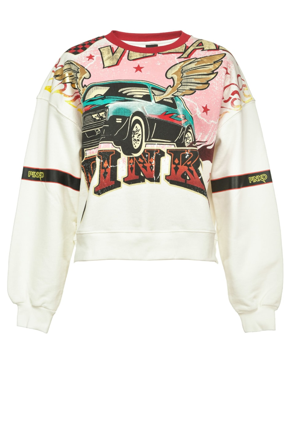 Sudadera cropped con estampado rodeo