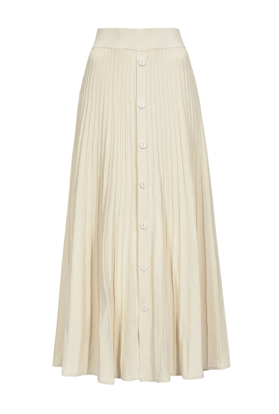Maxi ribbed skirt