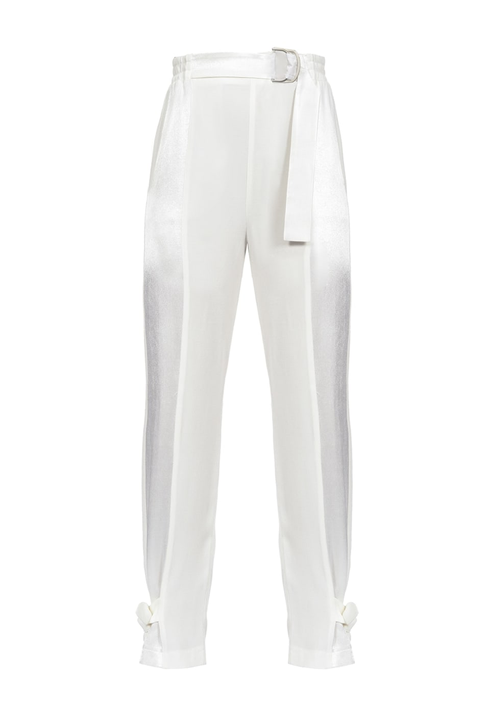 Trousers in envers satin