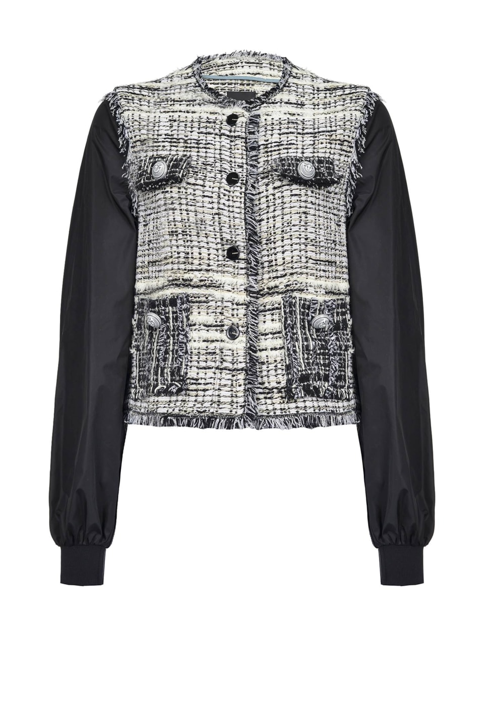 Two-fabric bomber jacket - Pinko
