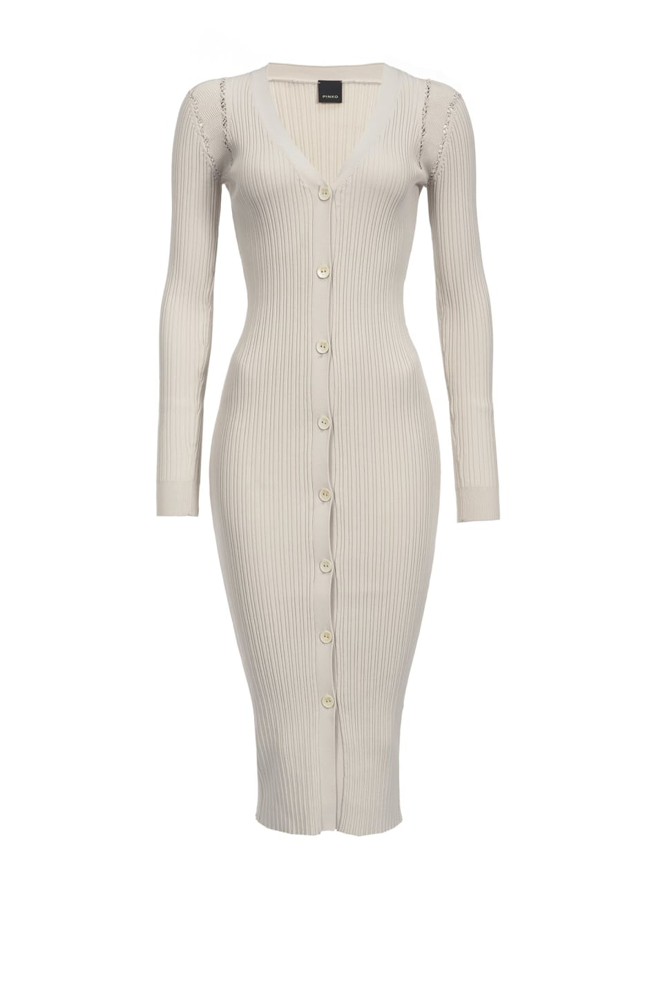 Rib-knit dress