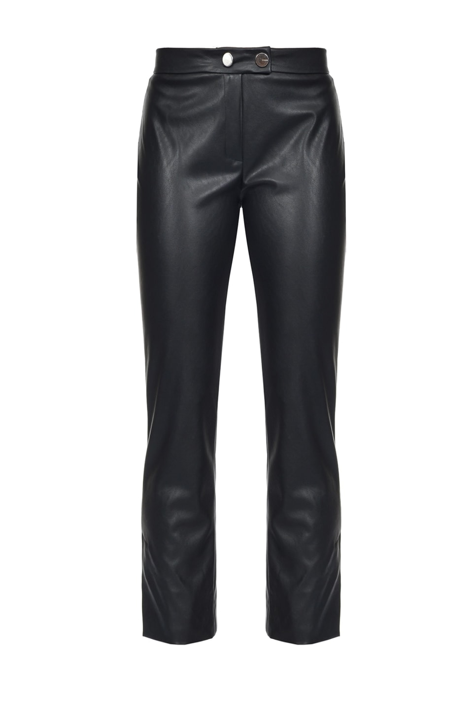 Leather-look trousers
