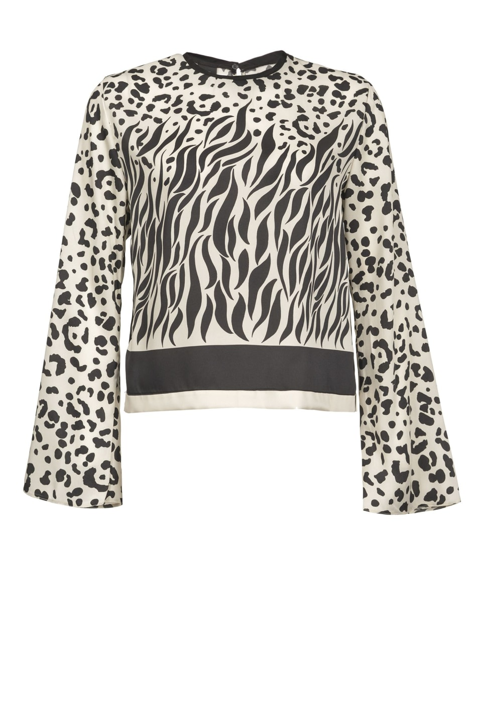 Blusa mix animalier degradè