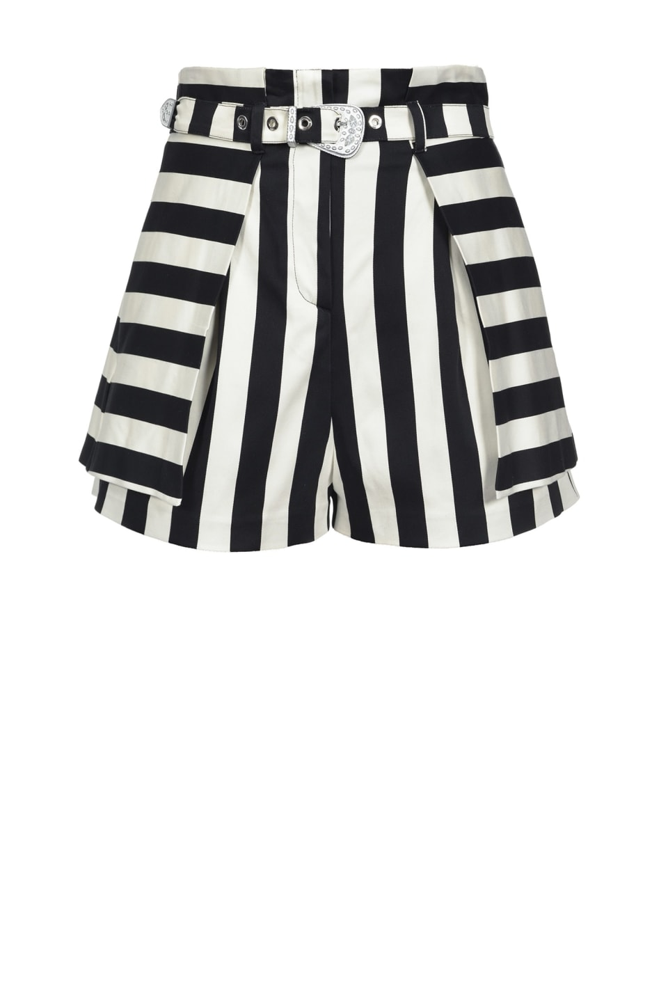 Striped shorts with belt - Pinko
