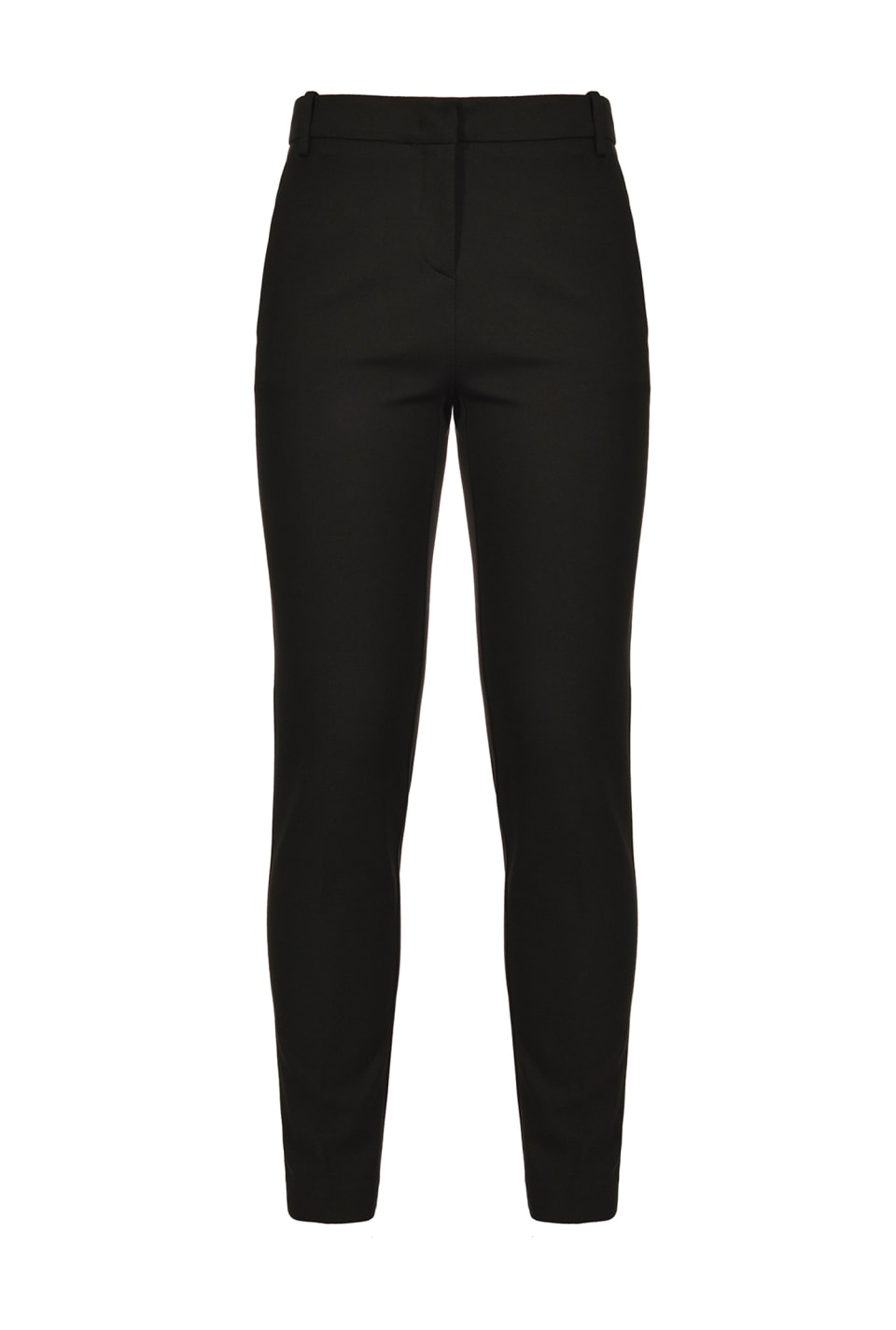 Scuba-effect cigarette-fit trousers
