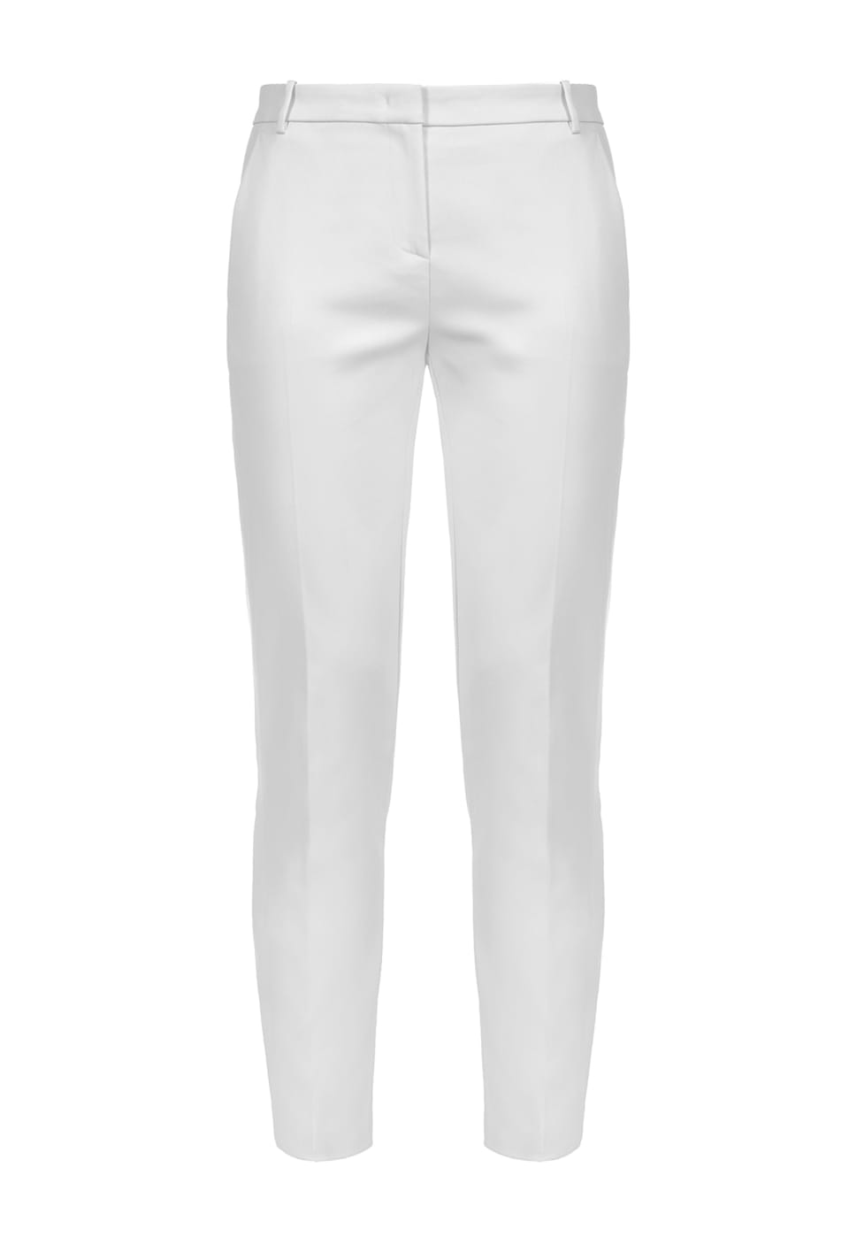 Technical fabric cigarette-fit trousers
