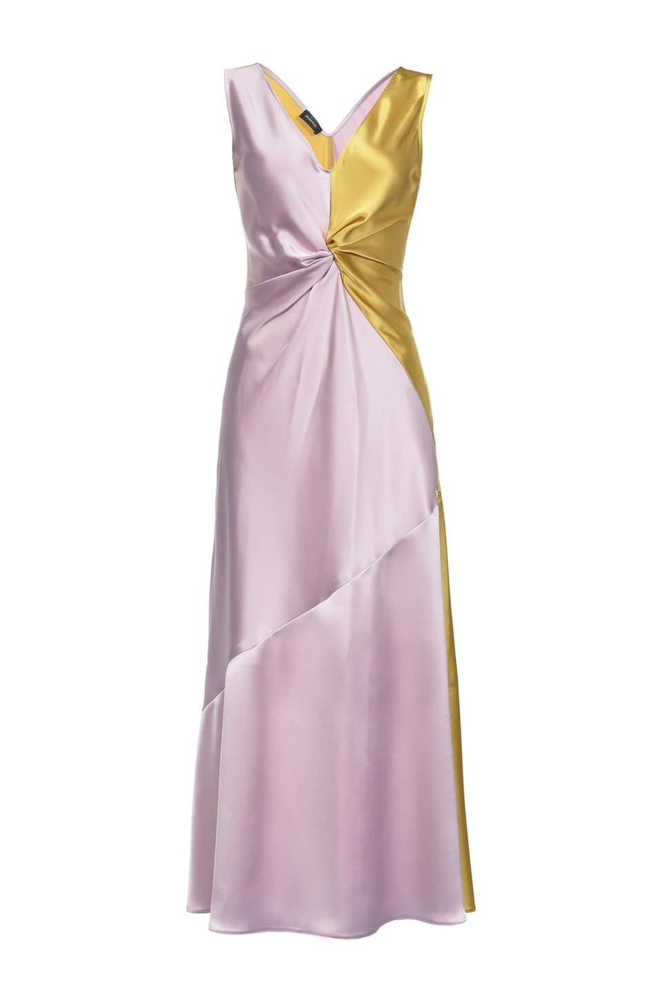 Two-tone satin dress