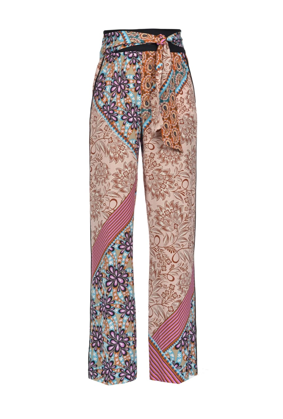 Patchwork-print trousers - Pinko