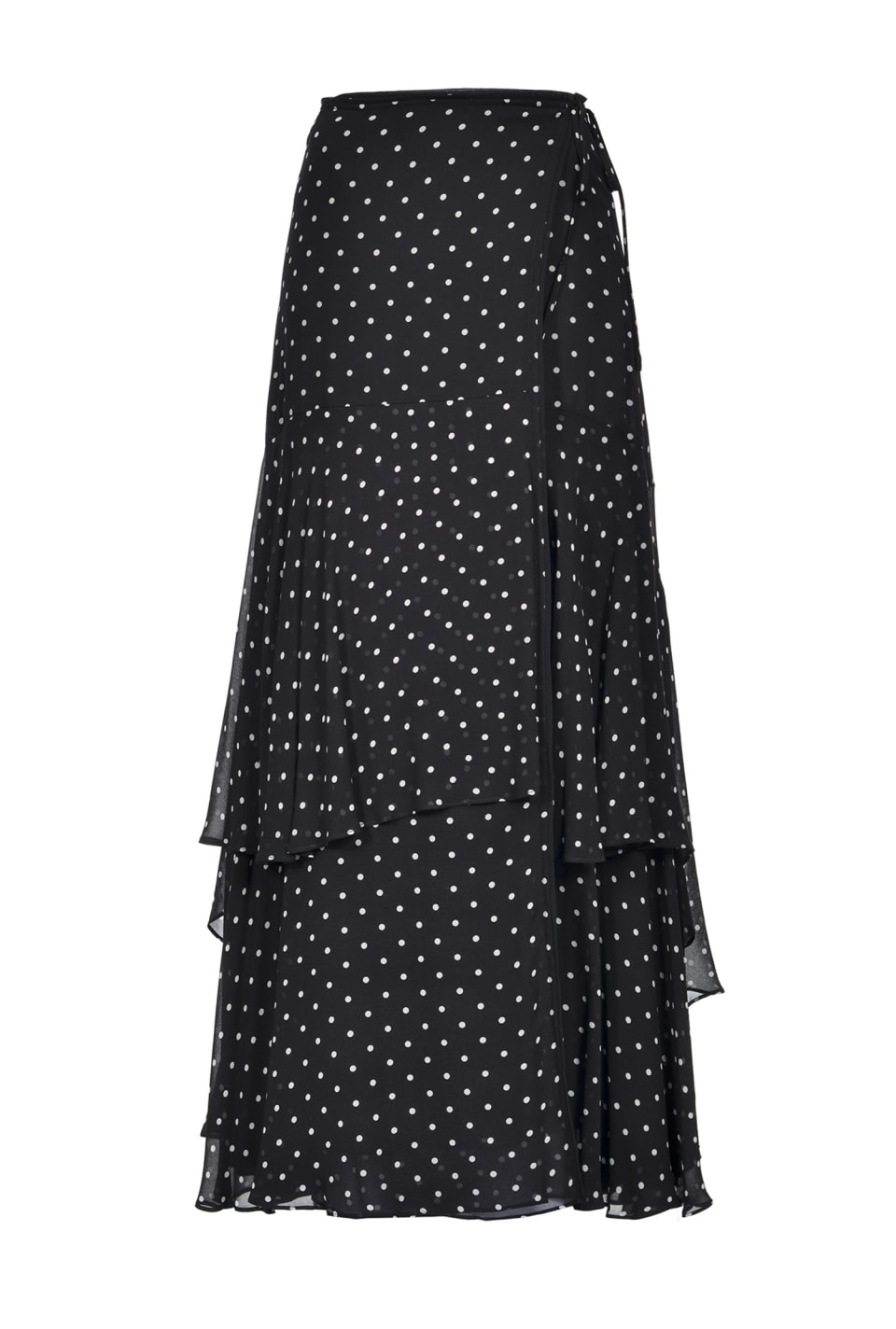 Maxi polka dot skirt