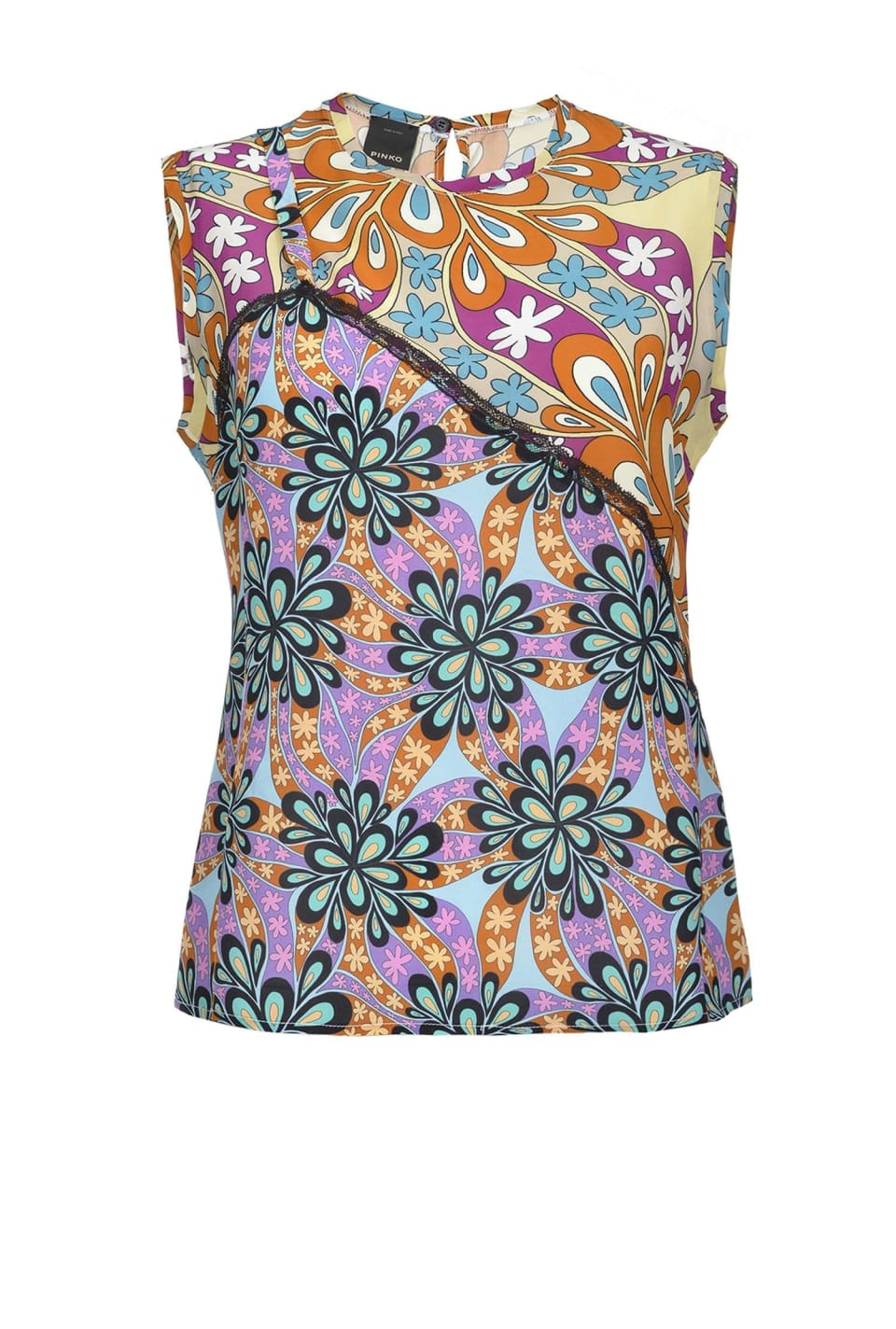 70s flower print top - Pinko